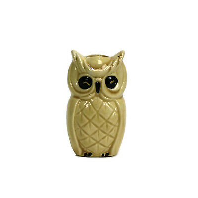1970/'s Vintage Ceramic Macrame Owl Beads Excellent Condition 1960/'s Yellow  Green  White  Splatter 2 12 inches Set of Four