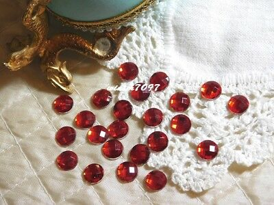 (300)**Costume Makers Sellout**Flat Back Rhinestones**Red**Round**New!**