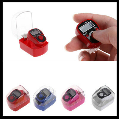 Digit Digital LCD Electronic Golf Finger Hand Rings Knitting Row Tally Counter