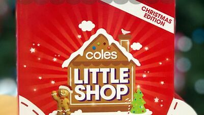 Individual Coles Little Shop Christmas Edition Mini Collectible Toy Food