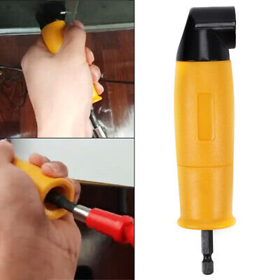 UK  90 Degree Right Angled Chuck Drill Bit Driver Corner Adapter Screwdriver