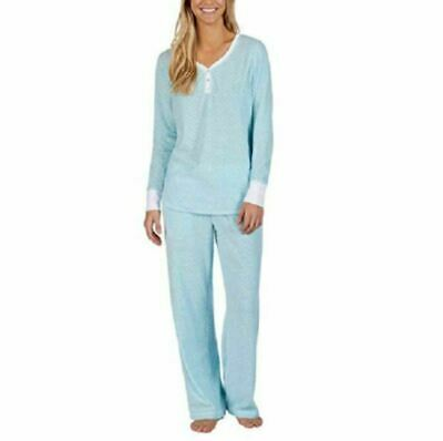 Nautica Womens 2 Piece Fleece Pajama Sleepwear Set Sz XXL Blue Free Shipping NWT