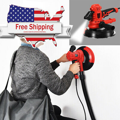 Variable Speed Electric Drywall Sander HandHeld with LED Lights 900W
