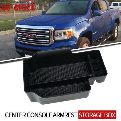Center Console Armrest Insert Organizer ABS Black Tray Pallet Secondary Storage Box Container for 2015-2019 Chevy Colorado and GMC Canyon 4XBEAM