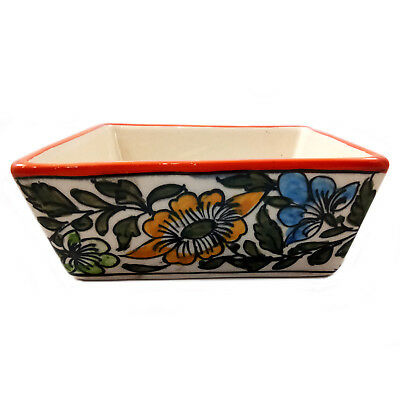 Home Decor Handmade Khurja Pottery Painted Ceramic Decorated and Serving Bowl