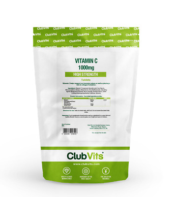 Club Vits - Vitamin C 1000mg with Rosehip & Bioflavonoids - 90 Tablets