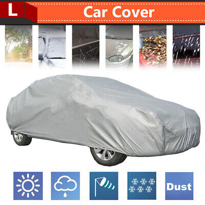Large Universal Full Car Cover Waterproof Anti Dust Scratch UV Resistant Covers