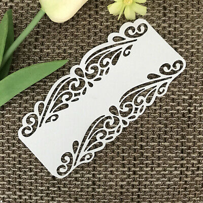 Multi Lace Border Scrapbooking Metal Cutting Dies Rectangle Square Frame Flower