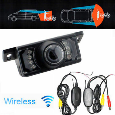 2.4G Wireless Car Reverse Rear View Backup Camera 7 IR Night Vision Parking Kit