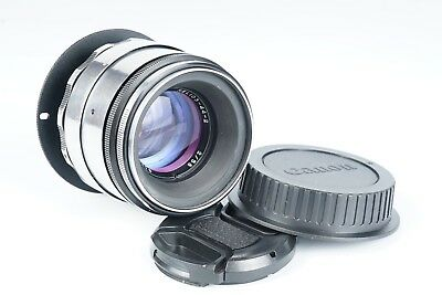 Anamorphic flare & Bokeh Lens for CANON eos EF mount Helios 2/58mm silver
