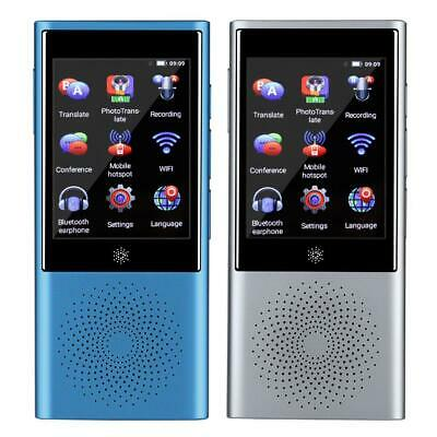 AI Smart Touch Screen Voice Real Time Translator 45 Language Bluetooth Wifi 1+8G