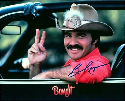 RP AUTOGRAPH Smokey & The Bandit 8X10 Photo Man Cave Sign Burt Reynolds DECOR