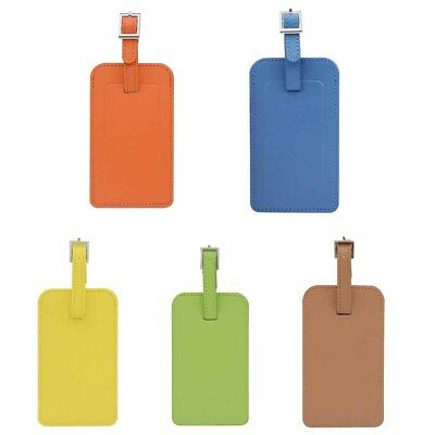 3 pcs Leather PU Luggage Tags Suitcase Labels Baggage Handbag Tag for Travel