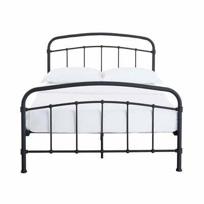 Robin Black Metal Bed Frame Industrial Style Strong Single Double King Size