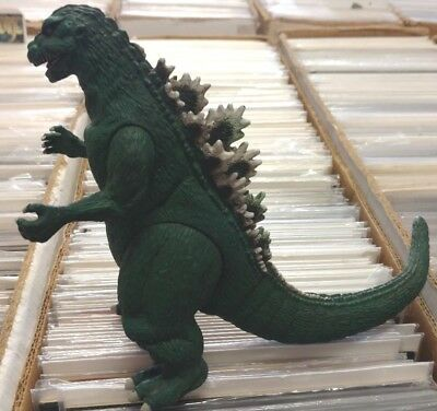 "GREEN GODZILLA 1954 Bandai 2002 Vinyl 6"" figure Kaiju Monster poster Toho toy"