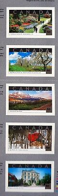 Canada  Sc# 1903a-e  TOURIST ATTRACTIONS  Booklet  2001  5x60ȼ  MINT MNH