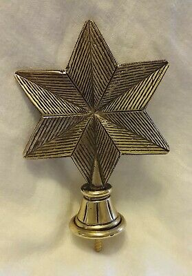 "Newell Post Or Flag Pole Finial - Brass Star ( Texas Lone Star ) 5 1/2"" × 4"""