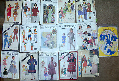 1980's+ Simplicity Sewing Patterns Little Girls 10 You Choose