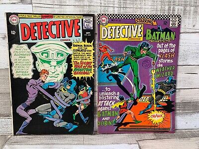 VINTAGE DC COMIC DETECTIVE COMICS BATMAN AND ROBIN FLASH #343 #353 12c 10d BOOK