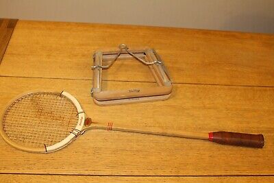 Vintage Dunlop Squash Racket International Model & Head Clamp Bowden Plymouth