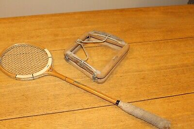 Vintage Grays Squash Racket Cambridge Blue & Dunlop Head Clamp Bowden Plymouth