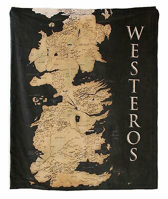 Game Of Thrones Throw Westros - Map Design Blanket - Officially Licensed