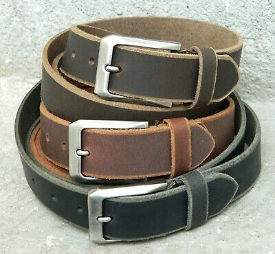 Calyx Genuine full grain Leather smooth rubbed Vintage semi Formal Casual Belt