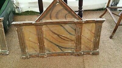 Pair Large Antique Painted Faux-Marble Wooden Over-Door Panels/ Sovvraporte