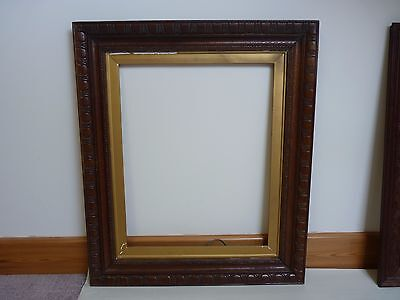 Antique Vintage old large carved wood Frame for painting Family wedding picture