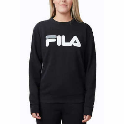 Fila Ladies' French Terry Crewneck White Pink Black Size XS S M L XL NWT