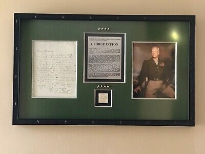 George S. Patton Jr. WWII U.S Army General Autograph Signed Museum Display - PSA