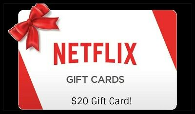 Heavily DISCOUNTED Netflix Gift Card - $20 ( USA ONLY ) UNLESS HAVE VPN!