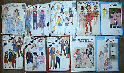 1980's Simplicity Sewing Patterns Girls size 14 You Choose