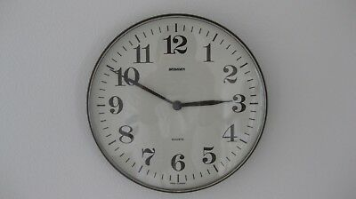 Vintage 1970's Retro Staiger Wall Clock - Made in West Germany - Chocolate Brown
