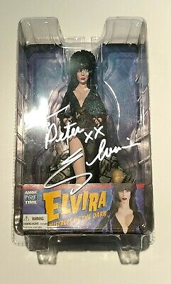 Elvira Mistress of the Dark Amok Time 7-inch figure MIB OOP Signed personalized