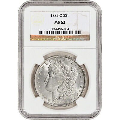 1885-O US Morgan Silver Dollar S1 - NGC MS63