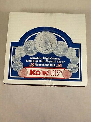 100 Round Coin Tubes Nickel Size KoinTubes Clear High Quality