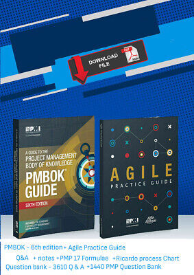 PMI PMBOK Guide 6th Edition 2018 + Agile Practice Guide - P.D.F. High Quality