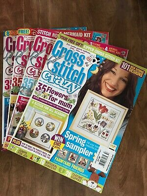 Lot of 4/Cross Stitch Crazy Magazines/Issue# 57,60,61,63/Year2004