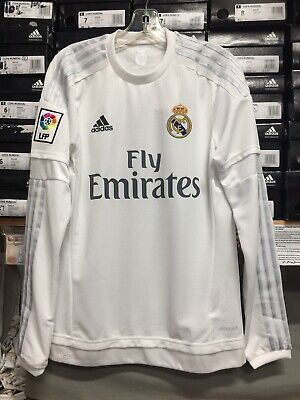 e9e12b9fc Adidas Real Madrid Home Jersey Long Sleeve White Silver Size Extra Small  Only