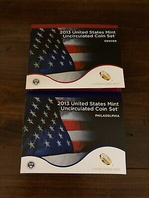 2013 P&D Complete Uncirculated Set of * 28 * Coins US Mint  Box COA