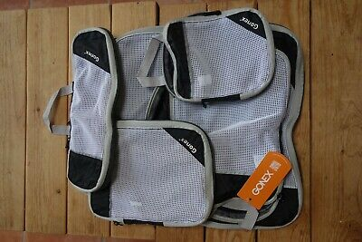 Gonex Compression Packing Cubes Mesh Travel Luggage Organizers Zip Bags