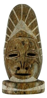 Rare Antique Head Mask Marble Stone Hand Made Art Tribal Home Decor Face Statue