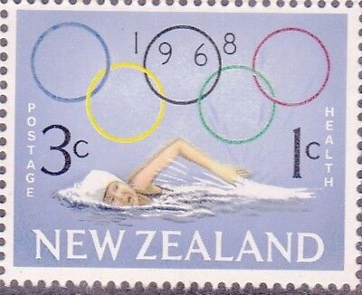 New Zealand 1968 HEALTH OLYMPICS Set (2) MNH SG 887-8 as Sccan