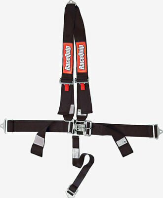 RACEQUIP/SAFEQUIP Black Latch and Link 4 Point Harness P/N 713003