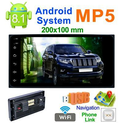 "7"" 2DIN Quad Core Android 8.1 Car Stereo MP5 Player GPS Navi AM FM Radio Wifi"