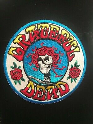 Grateful Dead Embroidered Patch Jerry Garcia The Dead Skull & Roses