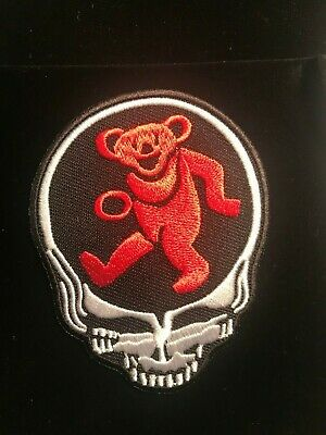 Grateful Dead Embroidered Patch Jerry Garcia The Dead Dancing Bear Stealie