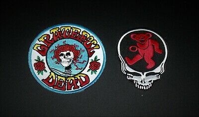 Grateful Dead Embroidered Patch Jerry Garcia The Dead - One Of Each Design