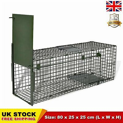UK Outdoor Fox Rat Live Catch Trap  Humane Catcher Small Mesh Holes Cage Rodent
